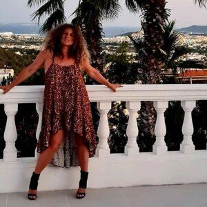 Joanna Liszowska, wakacje, panterka